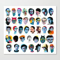 talking heads Canvas Prints featuring Heads by Alvaro Tapia Hidalgo