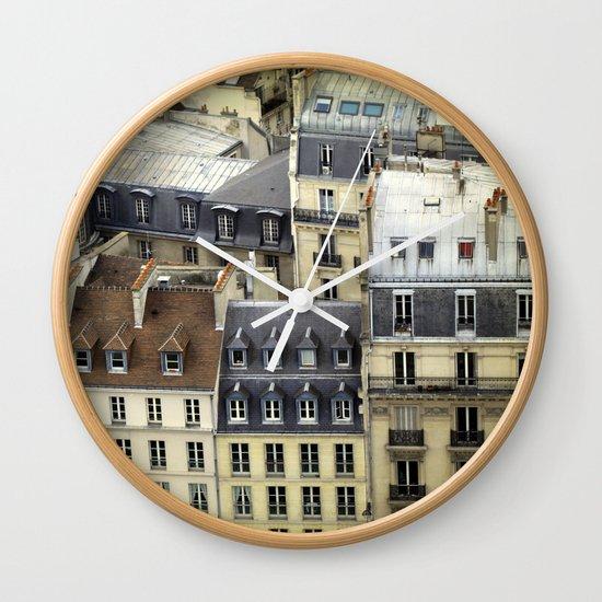 Paris Rooftop #2 Wall Clock