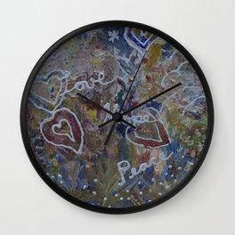 Love Hope Peace Wall Clock