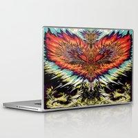 third eye Laptop & iPad Skins featuring Third Eye by FractalFox