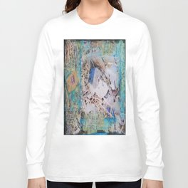 Feathers Mixed Media Long Sleeve T-shirt