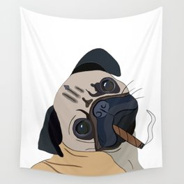 Chilled Pug Wall Tapestry