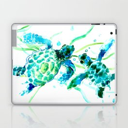 Sea Turtles, Turquoise blue Design Laptop & iPad Skin