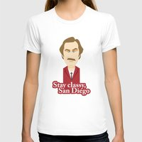 will ferrell T-shirts featuring Will Ferrell as Ron Burgundy by Leo Maia