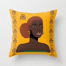 Goddess, Sister, Queen Throw Pillow