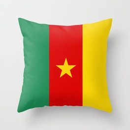 Cameroon country flag Throw Pillow