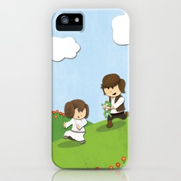 SW Kids - Han Chasing Leia iPhone Case