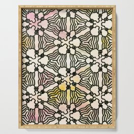 Floral Circuitry Serving Tray