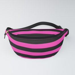 Hot Pink and Black Stripes Fanny Pack
