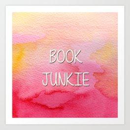Book Junkie Art Print