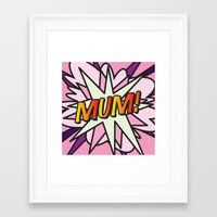 comic book Framed Art Prints featuring Comic Book MUM! by The Image Zone