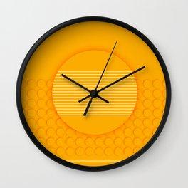 The yellow dot Wall Clock