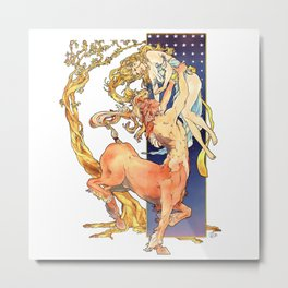 The Centaur and the Maiden Metal Print