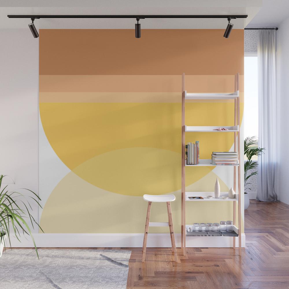Orange Color Block Wall Mural by nschmidt98
