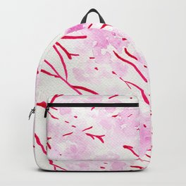 Pink and red blossom Backpack