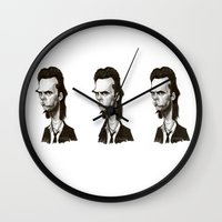 nick cave Wall Clocks featuring Nick Cave by Martynas Juchnevicius