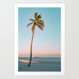 Palm Tree Sunset II Art Print