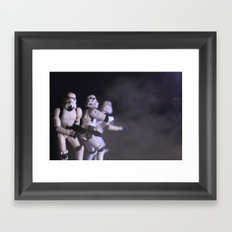 Only Imperial Stormtroopers are so precise Framed Art Print