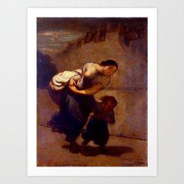 """Honoré Daumier """"The Burden (The Laundress)"""" Art Print"""