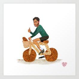 Tamal and his Bread-cycle! Art Print
