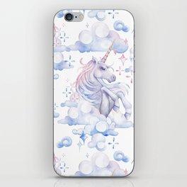 Watercolor unicorn in the sky iPhone Skin