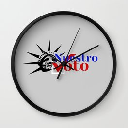 Our Revolution Turlock's Nuestro Voto Wall Clock