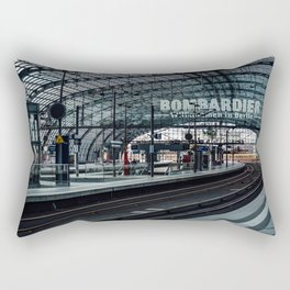 The train is coming Rectangular Pillow