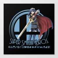 super smash bros Canvas Prints featuring Lucina - Super Smash Bros. by Donkey Inferno