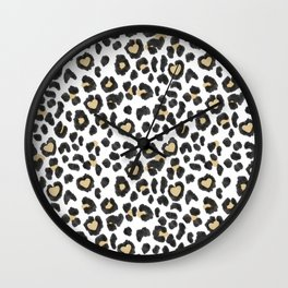 Leopard Heart Wall Clock