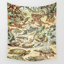 Reptiles II by Adolphe Millot // XL 19th Century Snakes Lizards Alligators Science Textbook Artwork Wall Tapestry