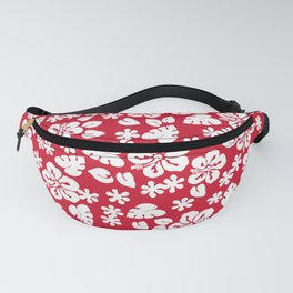 Hawaiian Hibiscus Flower pattern red Fanny Pack