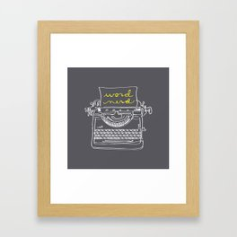 Word Nerd Framed Art Print