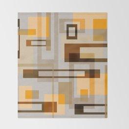 Mid Century Modern Blocks on Sand Throw Blanket