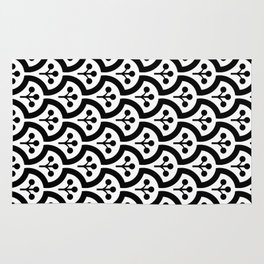 Atomic Mushroom Black & White 4 Rug