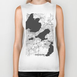 Madison Map Gray Biker Tank