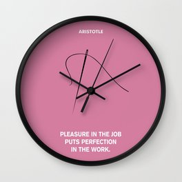 Lab No.4 - Perfection In The Work Aristotle Inspirational Quotes poster Wall Clock