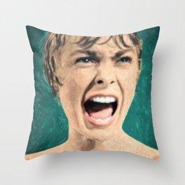 Psycho Shower Scene Throw Pillow