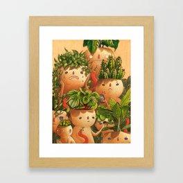 Plant-minded Framed Art Print