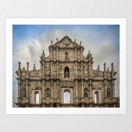 St. Paul's Church Ruins Macau Art Print