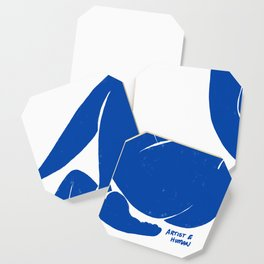 Whispering Nude in Matisse Blue Coaster