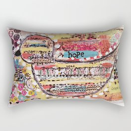 One of a kind original art by Croppin' Spree Rectangular Pillow