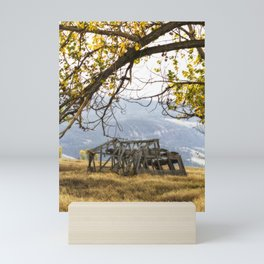 Lean To - Mormon Row - Grand Tetons Mini Art Print