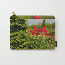 elm and red tulips arranged Carry-All Pouch