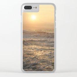 sunset hookipa beach maui hawaii Clear iPhone Case