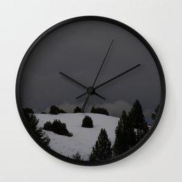 foggy landscape Wall Clock