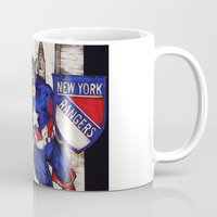 power rangers Mugs featuring Captain Rangers  by Kim Shady