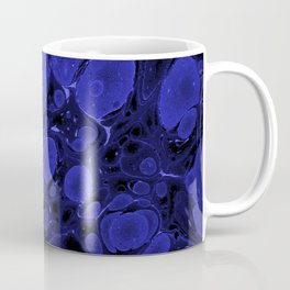 Tova - abstract art for home decor dorm college office minimal navy indigo blue Coffee Mug