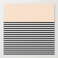 STRIPE COLORBLOCK {CREAM} Canvas Print