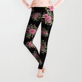 Pink Rose Bouquets Leggings