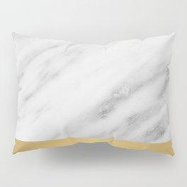 Carrara Italian Marble Holiday Gold Edition Pillow Sham